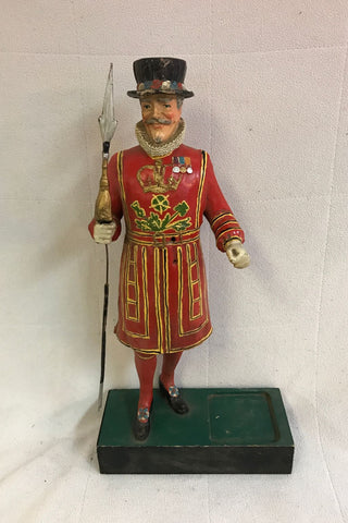 Beefeater vintage wooden display statue
