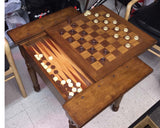 Wooden Chess and Checker table