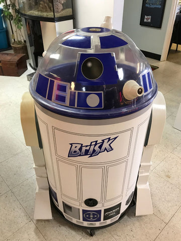 Star Wars R2-D2 Iceman Cooler with caster wheels.