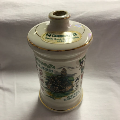 Porcelain Hand Decorated Whiskey Decanter
