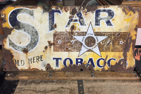 Star Tobacco Antique Sign