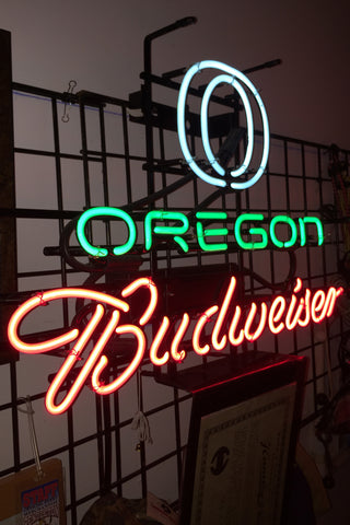 Oregon Budweiser Neon Light