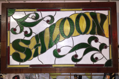 Antique Saloon Stained Glass