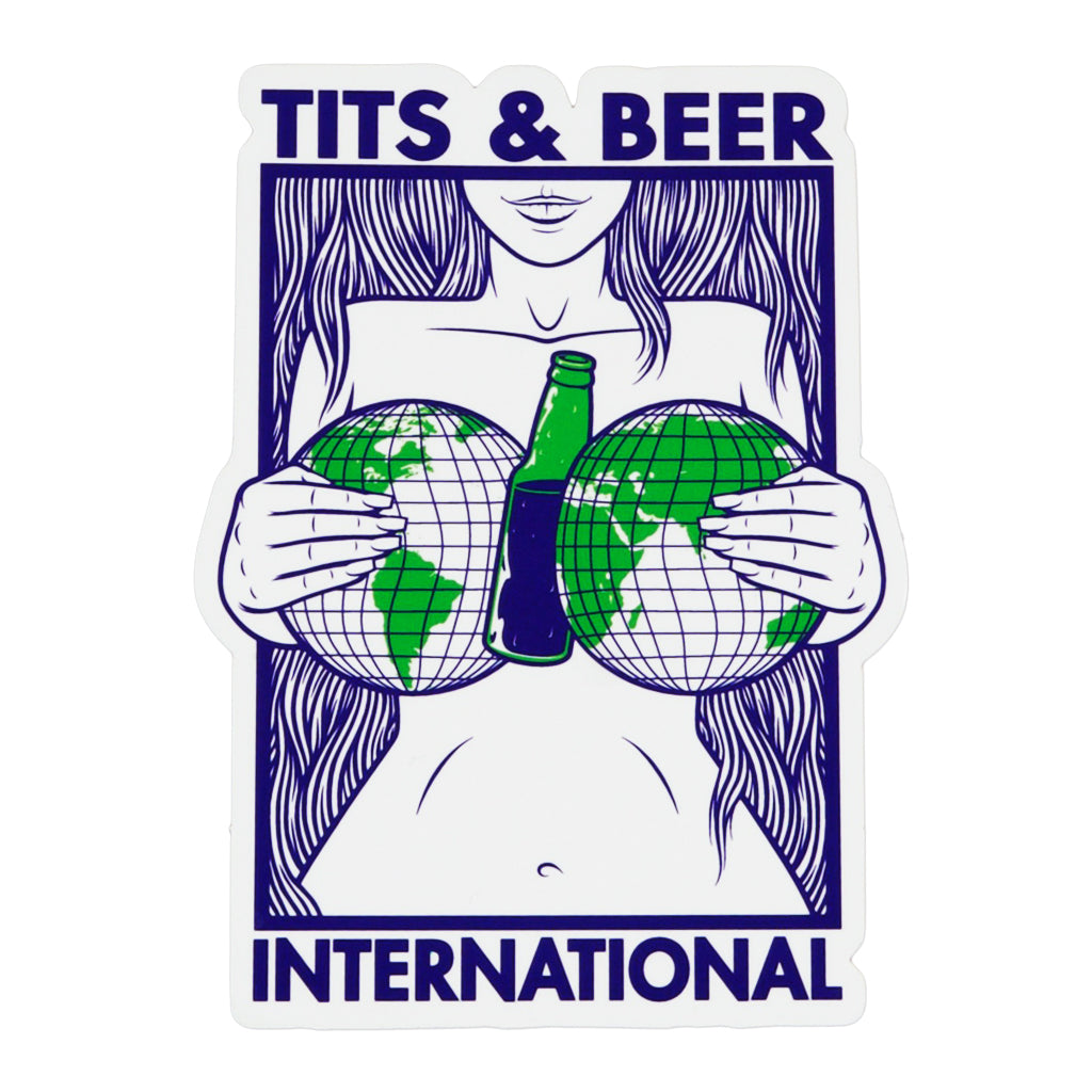 Tits and Beer International Sticker 1