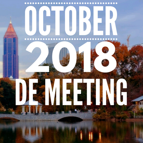 October 2018 DE Meeting