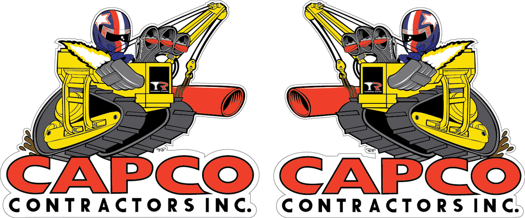 Capco Boom Hard Hat Set of Dual Stickers -2