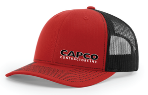 Capco Mesh Snap Back - Red/Black