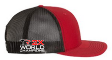 Capco Mesh Snap Back 2X World Champions- Red/Black