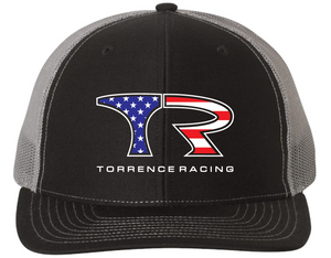 TR American Flag Mesh Snap Back - Black / Charcoal