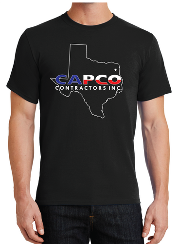 Capco Texas Outline T-shirt - Black