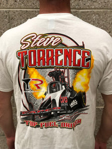 Vintage Steve Torrence Top Fuel Driver T-Shirt - White