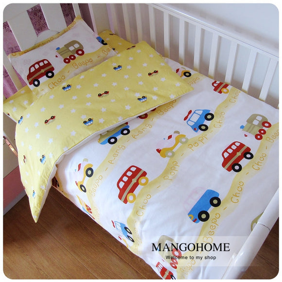 22 Styles Boy bedding set Baby Bedding Set 3pcs/set Cotton Crib Bedding Set For Boys Newborn for 120*60cm 130*70cm bed