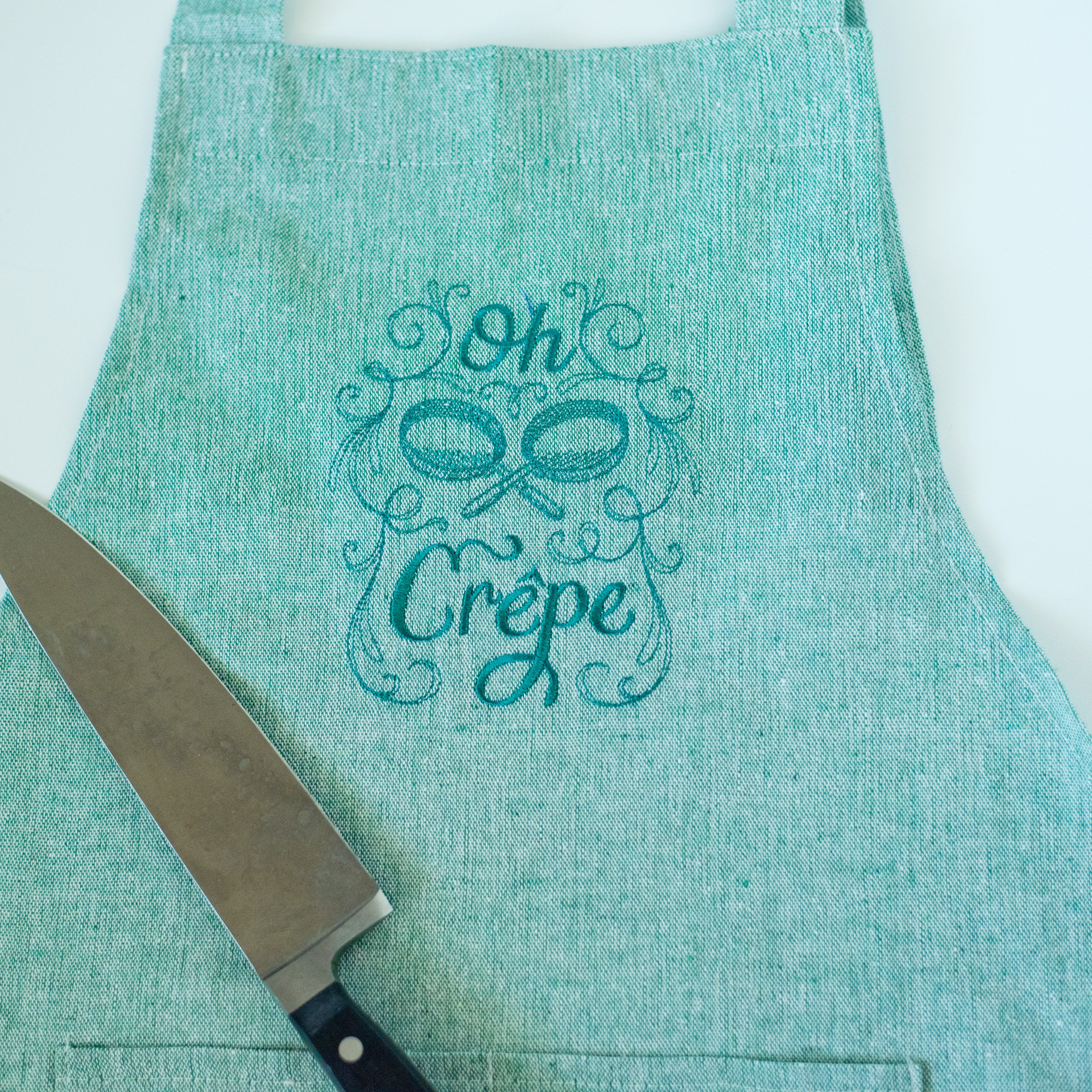 Oh Crepe Apron Green