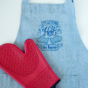 It's Getting Hot in Here Apron Blue