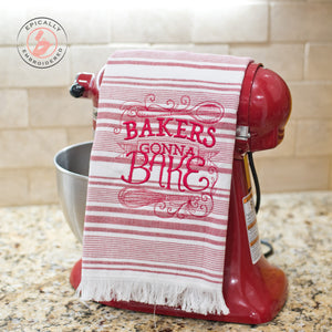Bakers Gonna Bake Dish Towel Red