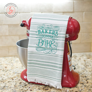Bakers Gonna Bake Dish Towel Green