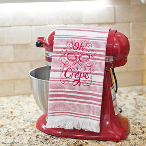 Oh Crepe Dish Towel Red