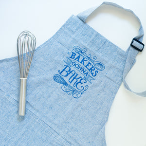 Bakers Gonna Bake Apron Blue
