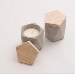 raw cement candles