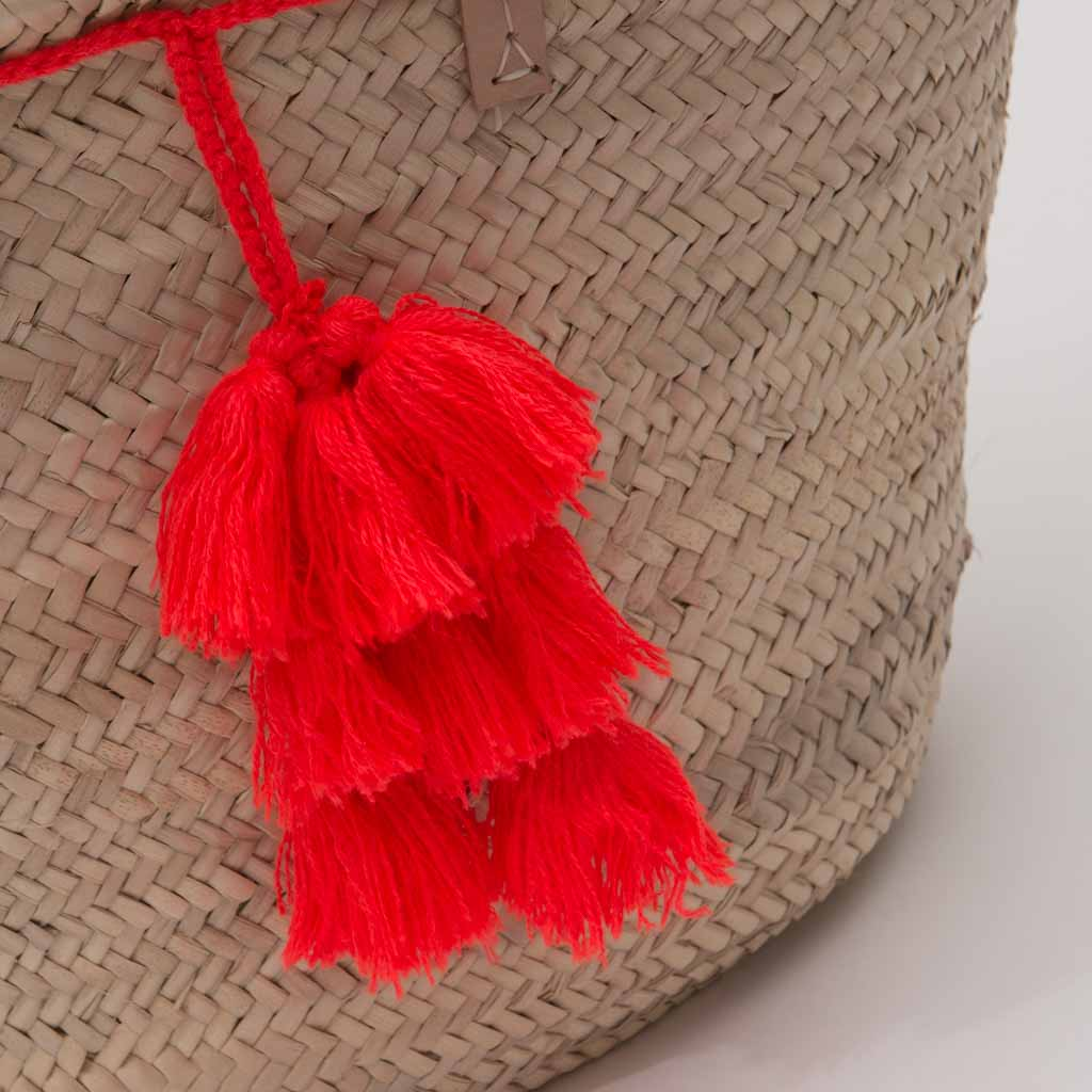 Fiesta Beach Basket - orange
