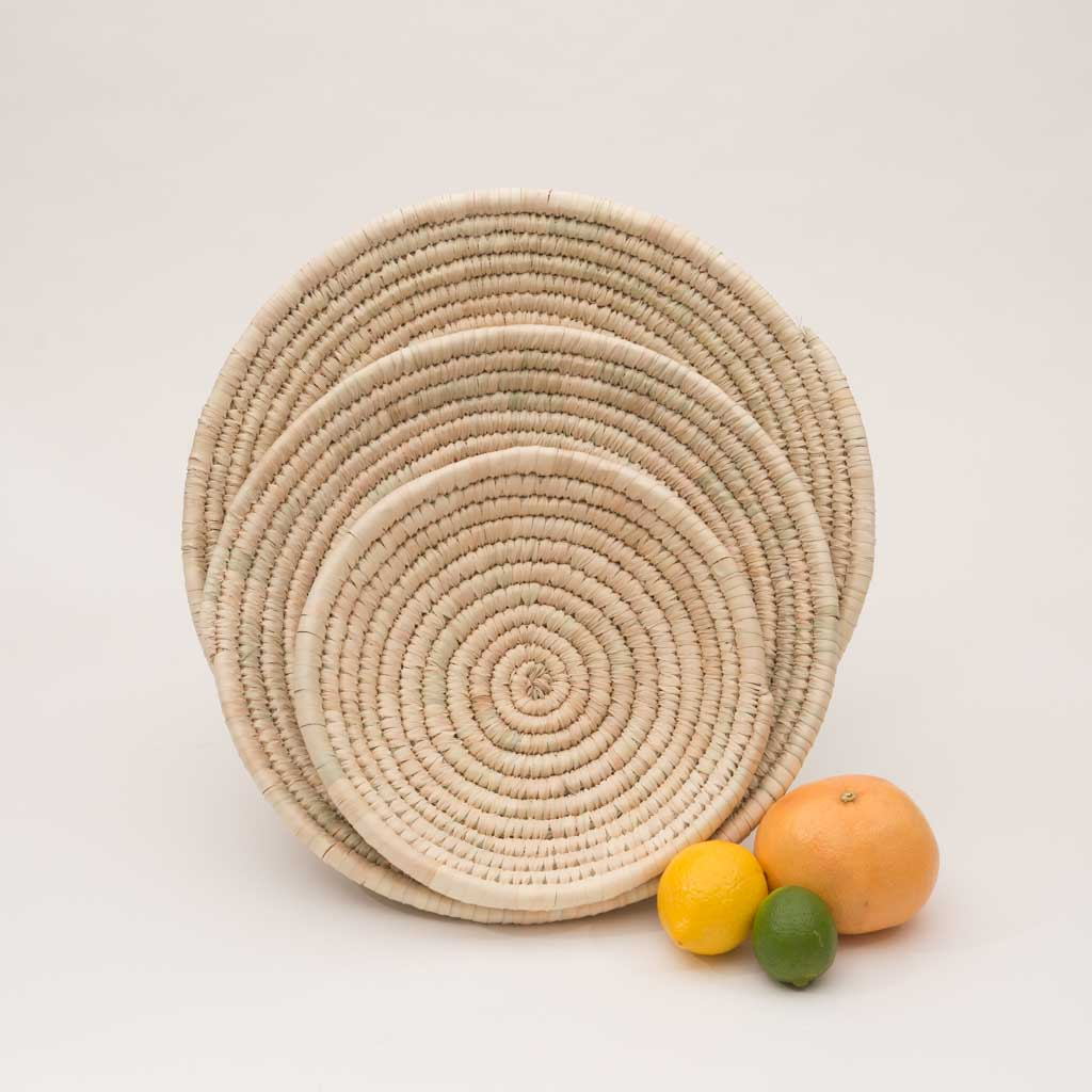 Palm Leaf Woven Plates - large