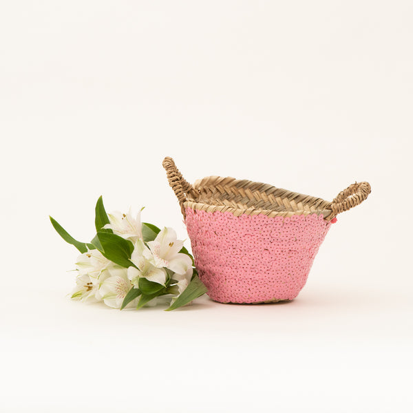Tiny Pink Basket