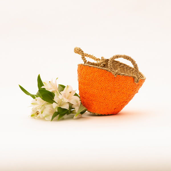 neon orange basket