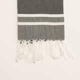 Hiba Towel black and white