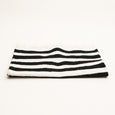 Black and White Bath Rug