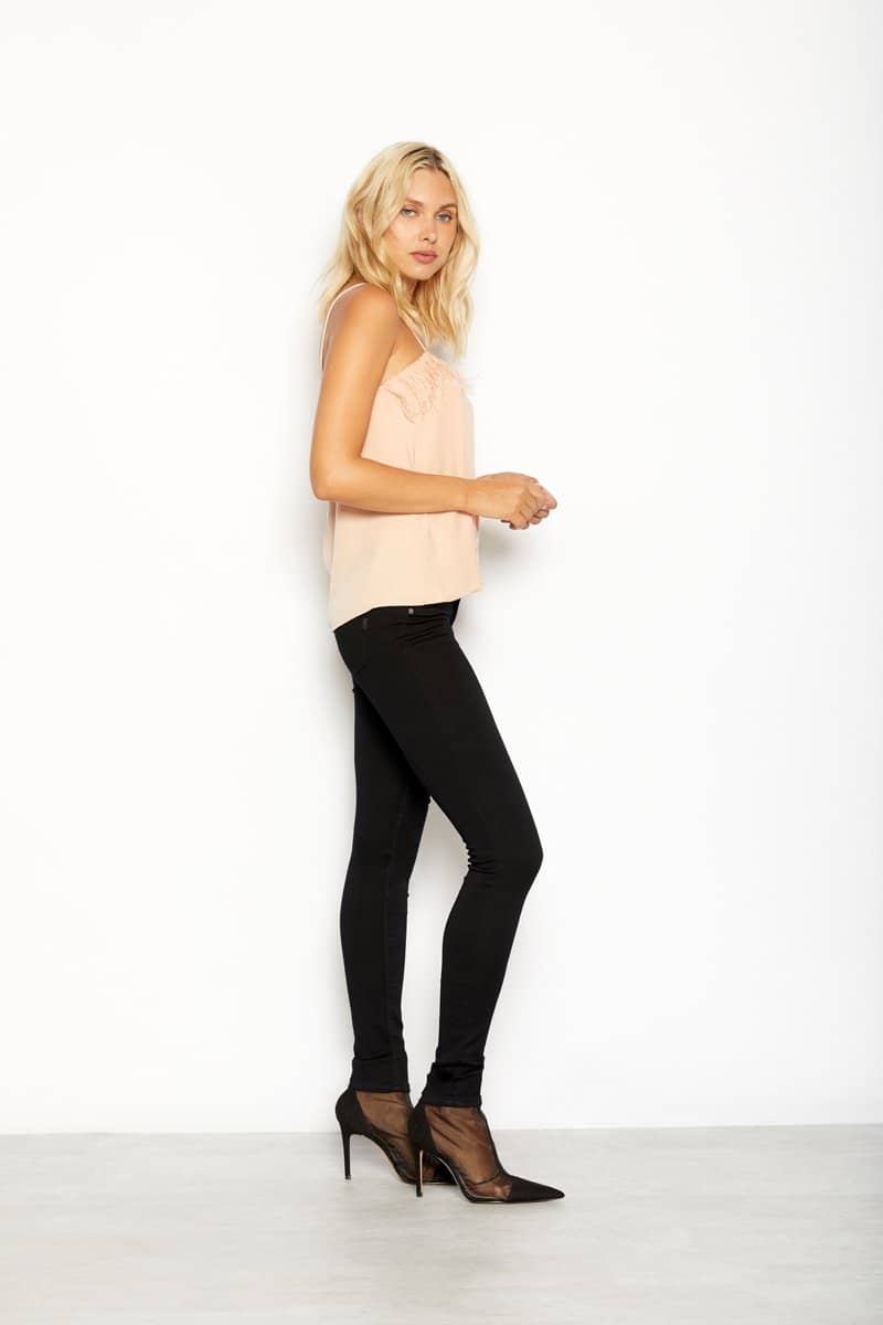 "Butter 32"" Tall Skinny Jeans In Wynter Black"