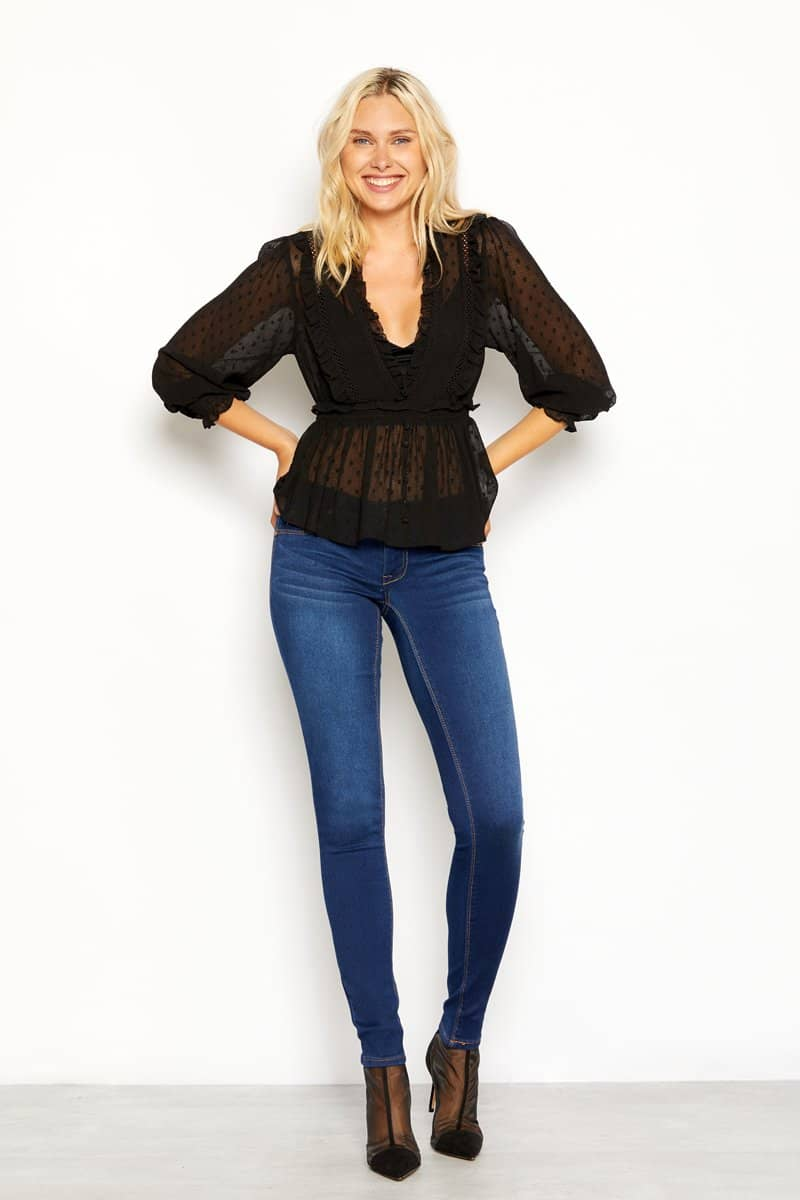 "Tall Butter 32"" Skinny Jeans In Wynter Lennox"