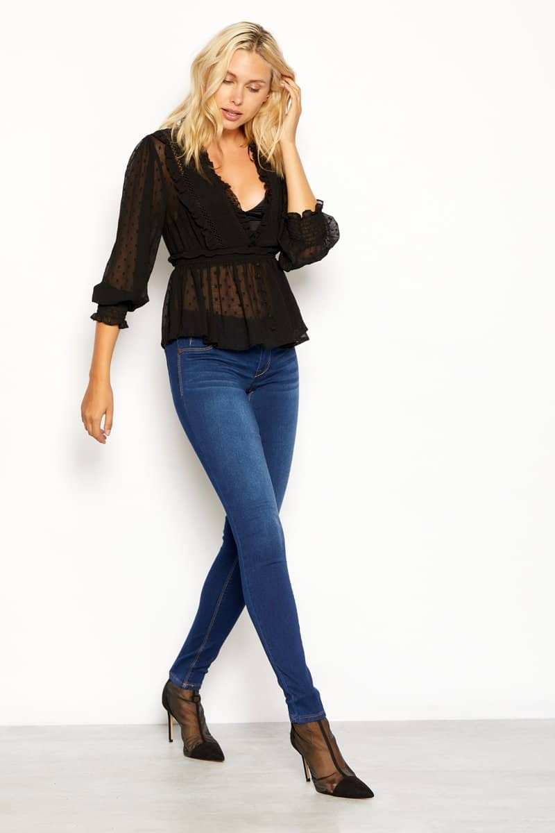 "Butter 32"" Tall Skinny Jeans In Wynter Lennox"