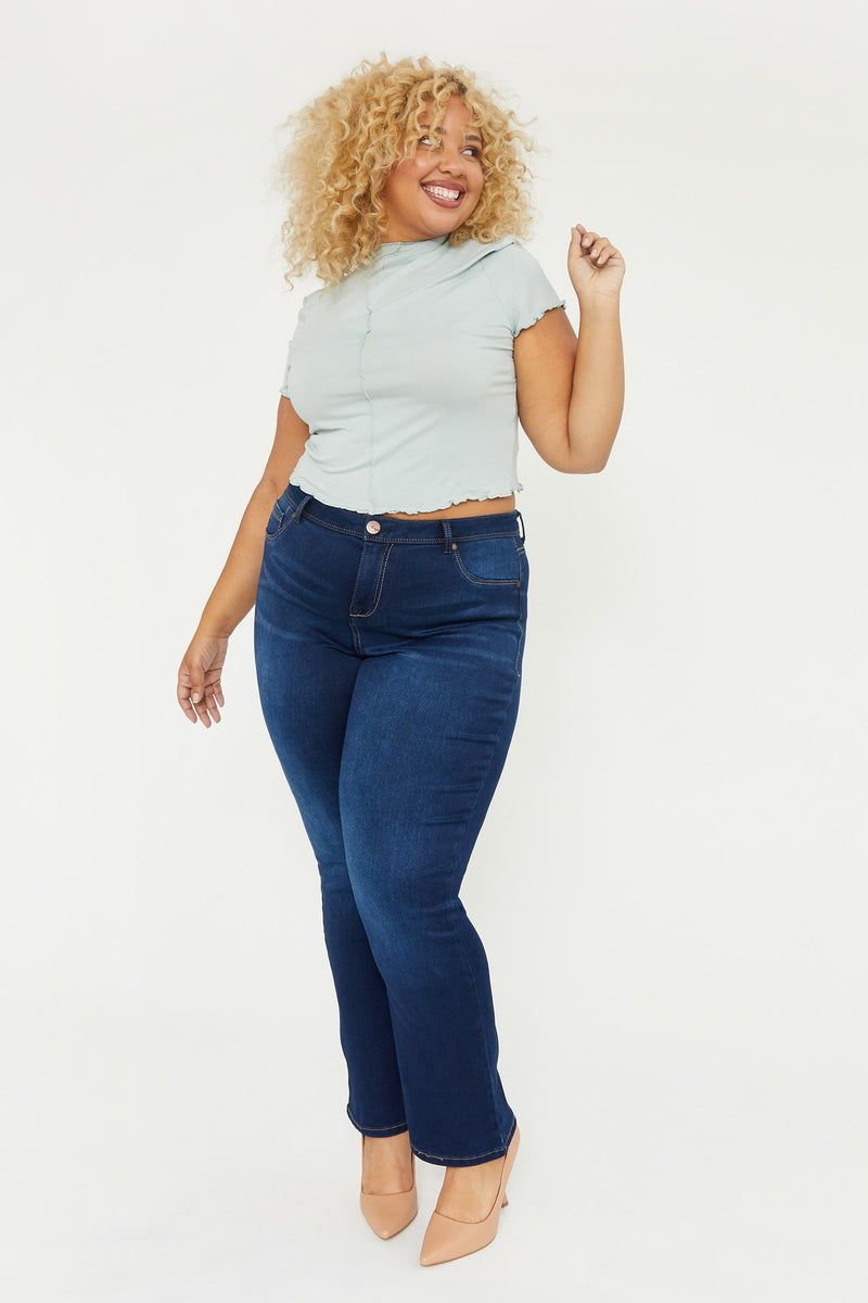 "Plus Butter 31"" Boot Cut High Rise Jeans In Wynter Raquel"