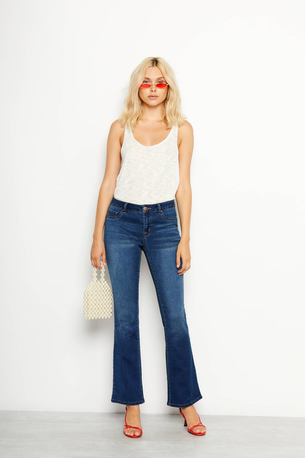 "Butter 32"" Tall Boot Cut Jeans In Wynter Ziggy"