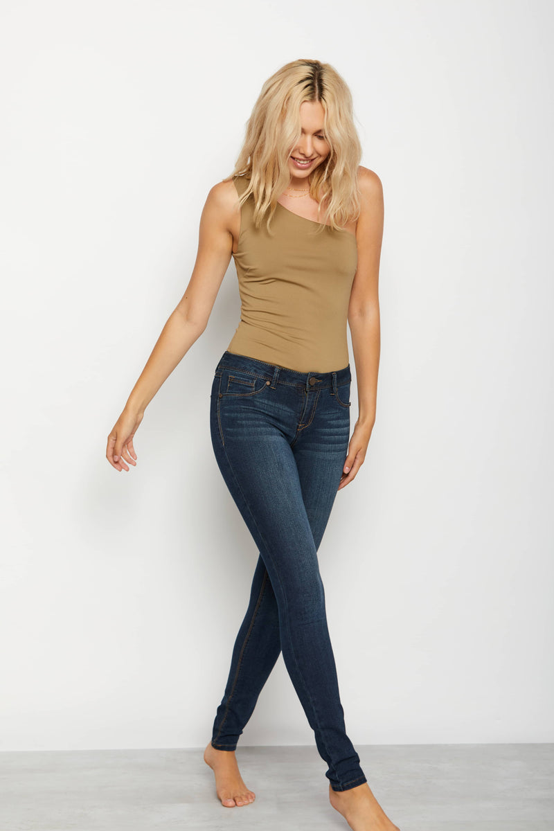 "Luxe Stretch Denim 32"" Tall Skinny Jeans In Giovanna"