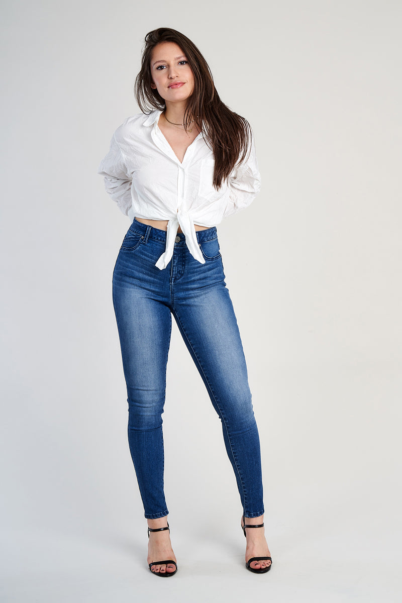 1822 Denim Sculpt Denim High Rise Ankle Skinny Jeans In Kimberly - CA61C1392J1