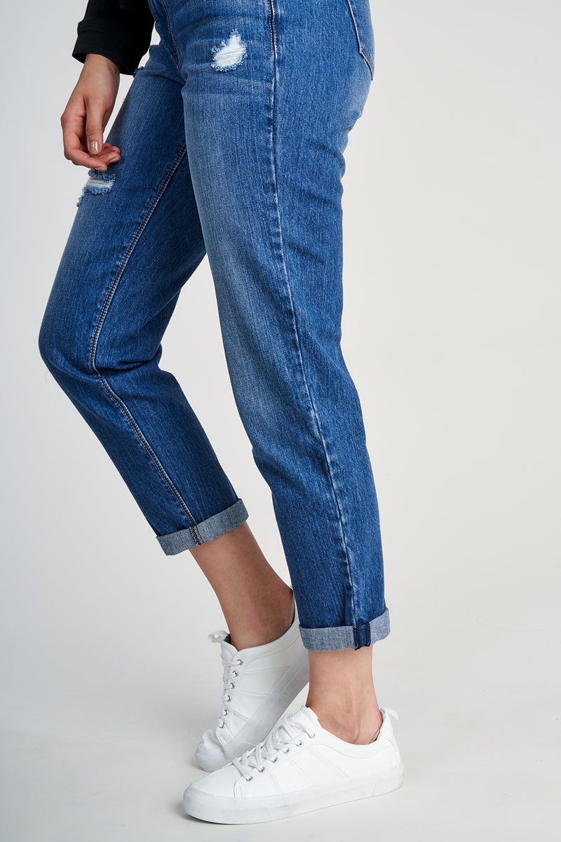 Rigid High Rise Roll Jeans In Greg
