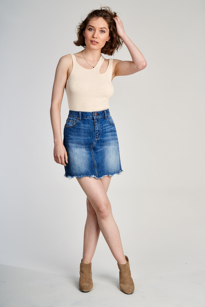 Mini Denim Skirt In Vanessa