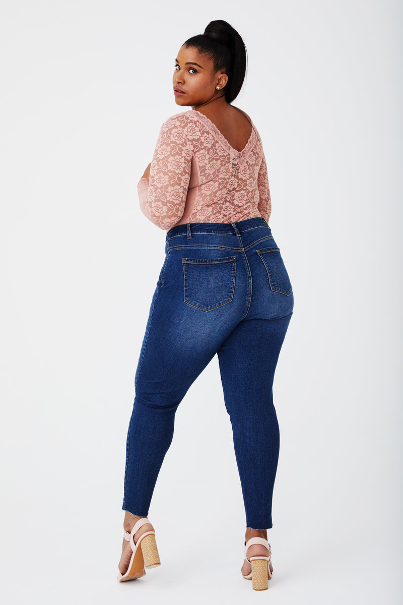 Plus Size Decon Skinny Jeans in Taryn