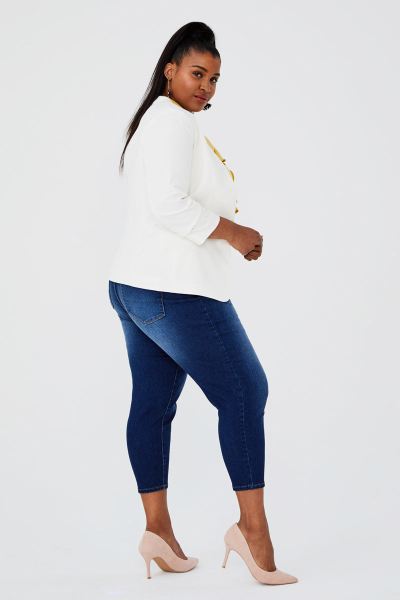 Plus Size Crop Skinny Jeans in Ziggy