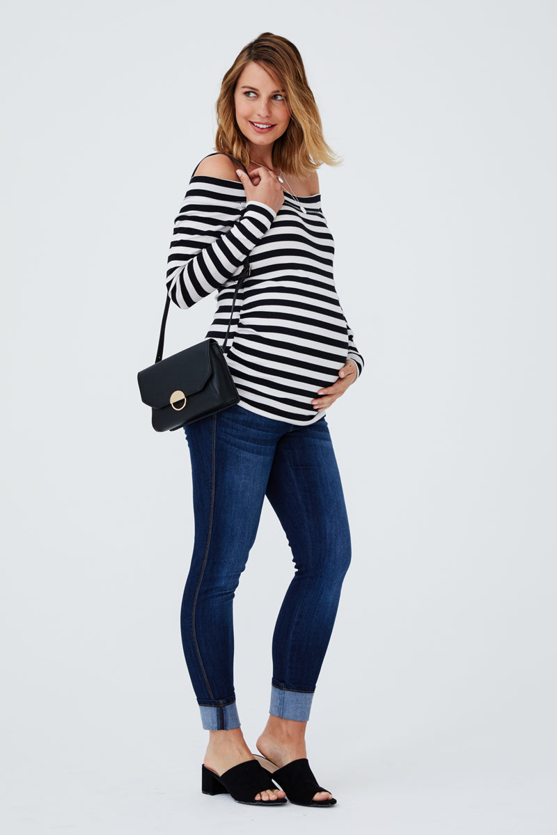 Maternity Ankle Skinny With Clean Cuff In Lennox