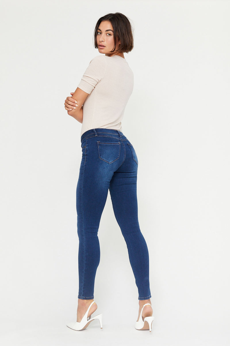 "Butter 32"" Tall Mid Rise Skinny Jeans in Wynter Ziggy"