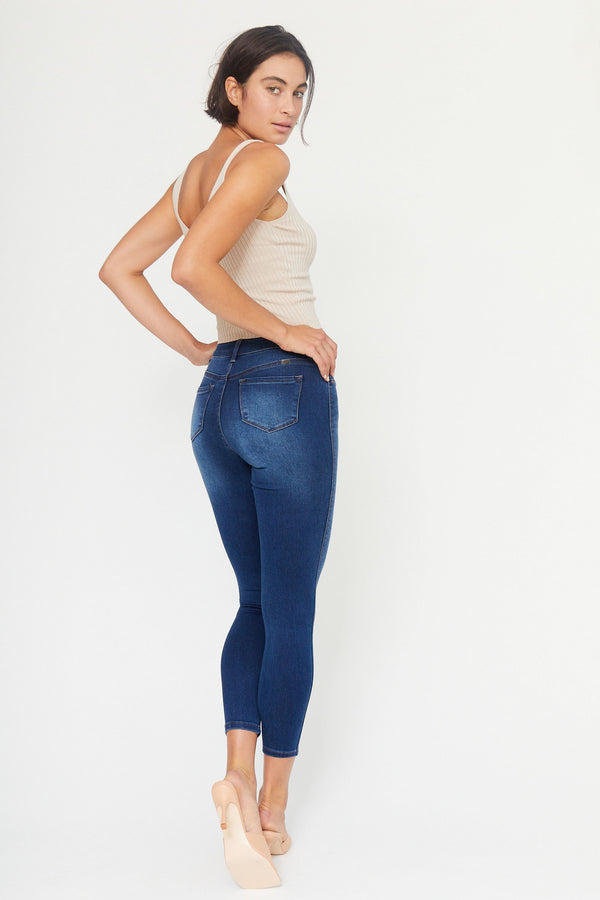 "Butter 28"" Ankle High Rise Butter Skinny Jeans In Wynter Ziggy"