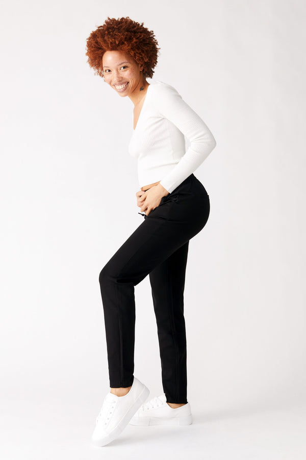 "Maternity Ponte 28"" Jogger In Black"