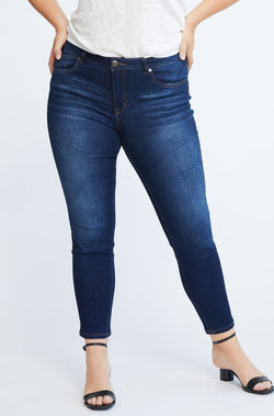 "Curvy RE:DENIM Mid Rise 28"" ankle skinny in Henry"