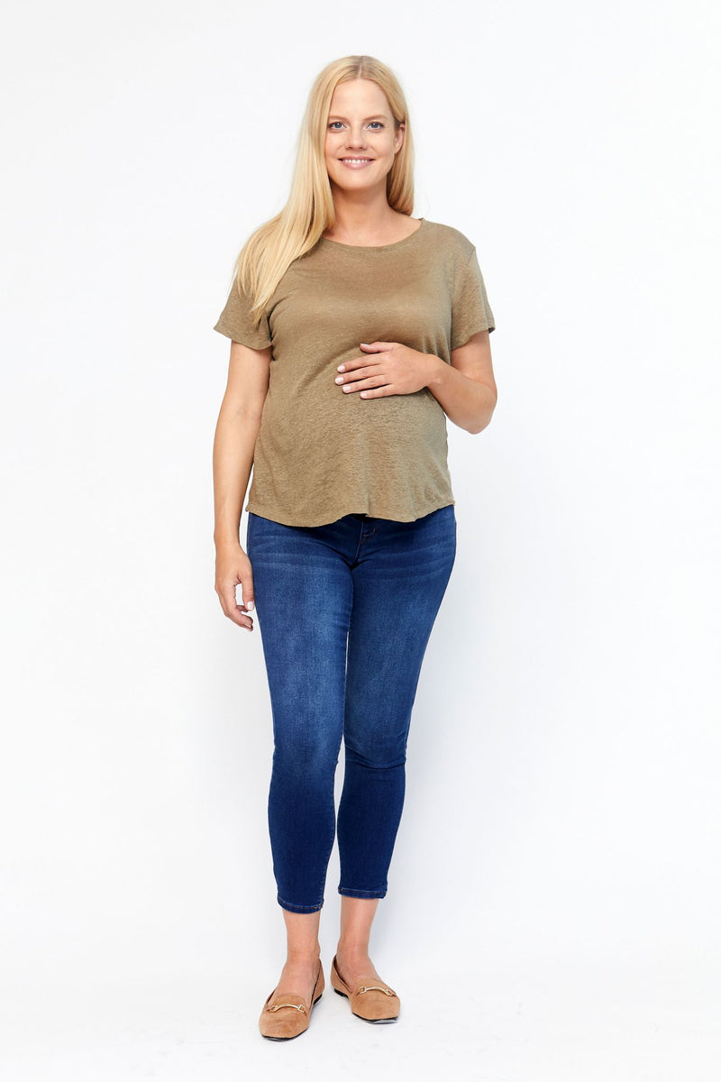"Maternity Butter 28"" Ankle Skinny Jeans In Wynter Ziggy"