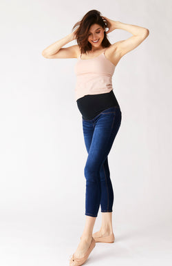 "Maternity Butter 28"" Ankle Skinny Jegging With Bellyband in Wynter Lennox"