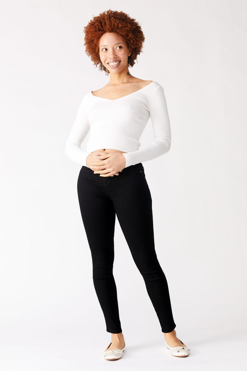 "Maternity Buttеr 28"" High Riѕе Anklе Skinny Women's Jegging In Wynter Blасk"