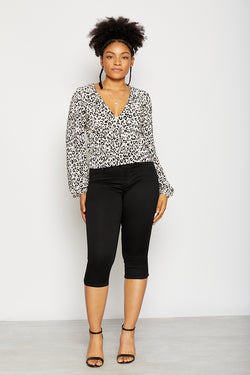 "Curvy Butter 18"" Capri Jeans In Wynter Black"
