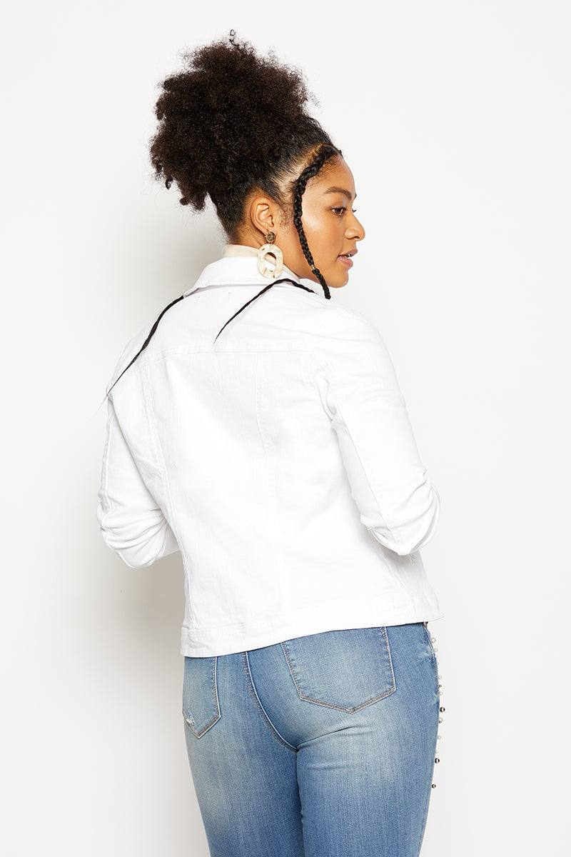 Denim Jacket In White